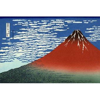 - Cuadro -Red Fuji II- - Hokusai, Katsushika