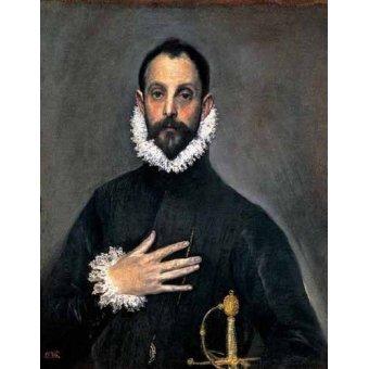 - Cuadro -El caballero de la mano en el pecho(1577-84)- - Greco, El (D. Theotocopoulos)
