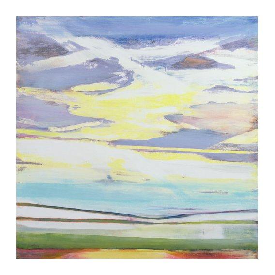Cuadro -Evening Seascape (mixed media)-
