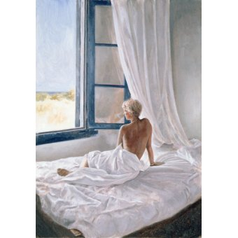cuadros de retrato - Cuadro -Afternoon View (oil on canvas)- - Worthington, John