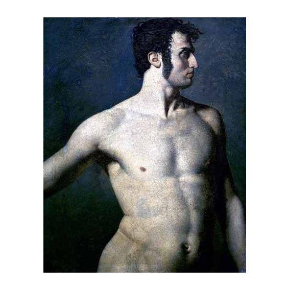 cuadros de retrato - Cuadro -Torso de hombre-