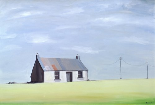 cuadros-de-paisajes - Cuadro -This Old House (oil on canvas)- - Bianchi, Ana