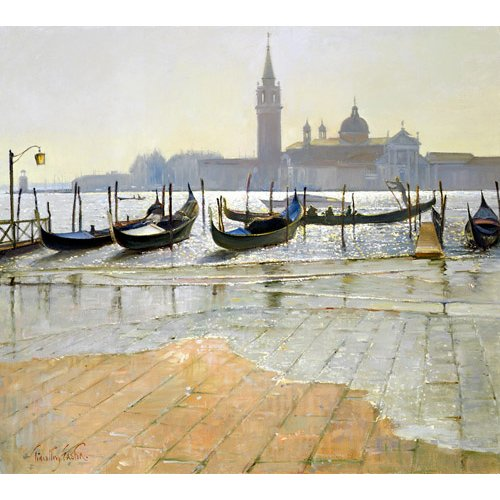 Cuadro -Venice at Dawn (oil on canvas)-