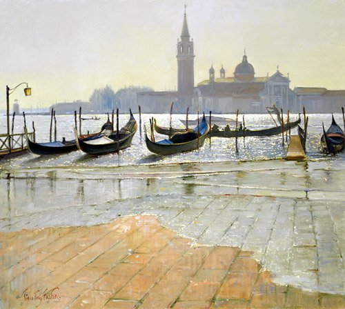 cuadros-de-marinas - Cuadro -Venice at Dawn (oil on canvas)- - Easton, Timothy