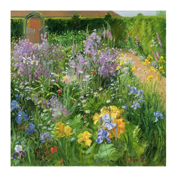 Cuadro -Sweet Rocket, Foxgloves and Irises, 2000 -