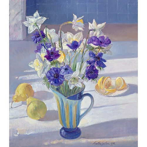 Cuadro -Spring Flowers and Lemons, 1994 -