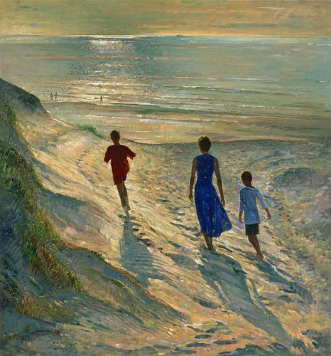 cuadros-de-marinas - Cuadro - Beach Walk, 1994 - - Easton, Timothy