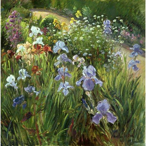 Cuadro - Irises and Oxeye Daisies, 1997 -