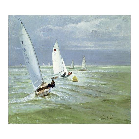 Cuadro - Around the Buoy (oil on canvas) -