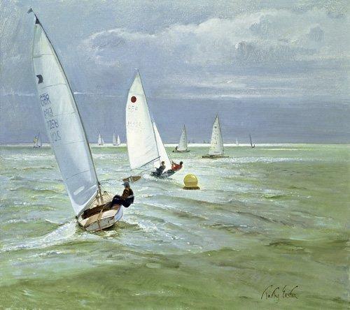 cuadros-de-marinas - Cuadro - Around the Buoy (oil on canvas) - - Easton, Timothy