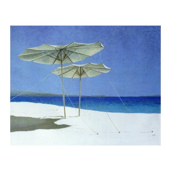 Cuadro - Umbrellas, Greece, 1995 -