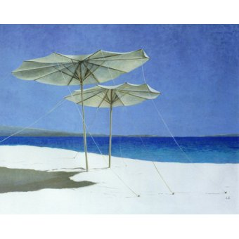 cuadros de marinas - Cuadro - Umbrellas, Greece, 1995 - - Seligman, Lincoln