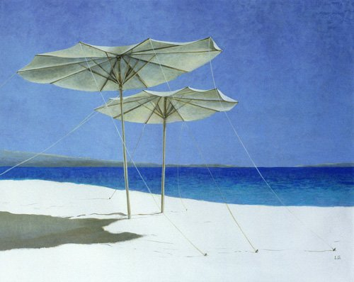 cuadros-de-marinas - Cuadro - Umbrellas, Greece, 1995 - - Seligman, Lincoln