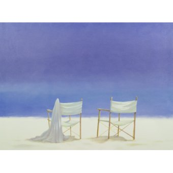 cuadros de marinas - Cuadro - Chairs on the beach, 1995 - - Seligman, Lincoln