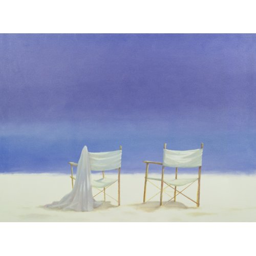 Cuadro - Chairs on the beach, 1995 -