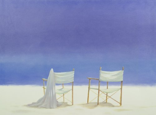 cuadros-de-marinas - Cuadro - Chairs on the beach, 1995 - - Seligman, Lincoln
