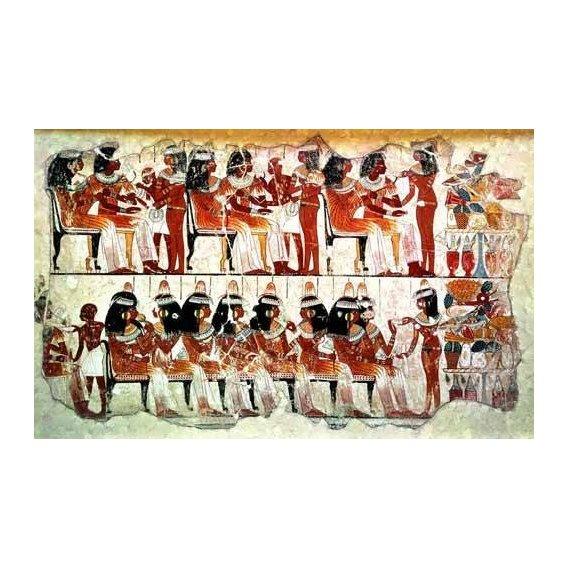 cuadros etnicos y oriente - Cuadro -Fresco en Thebes,- Banquete --