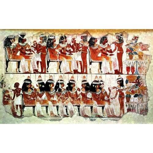 Cuadro -Fresco en Thebes,- Banquete --