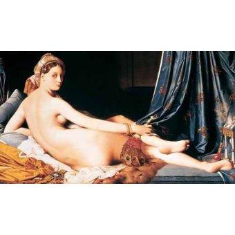 cuadros de desnudos - Cuadro -La Gran Odalisca, 1814- - Ingres, Jean-Auguste-Dominique