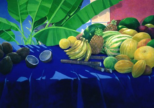 cuadros-de-bodegones - Cuadro -Tropical Fruit  - - Seligman, Lincoln