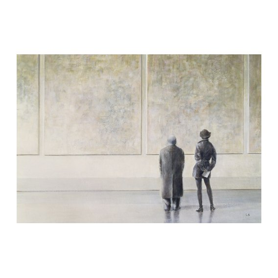 Cuadro -Man and Woman in an Art Gallery -