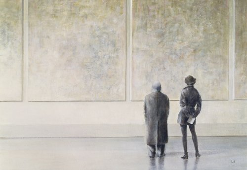cuadros-modernos - Cuadro -Man and Woman in an Art Gallery - - Seligman, Lincoln