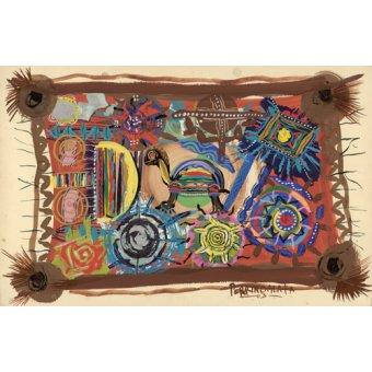 cuadros etnicos y oriente - Cuadro - Turtle Wisdom, 2003 - - Perrin, Oglafa Ebitari