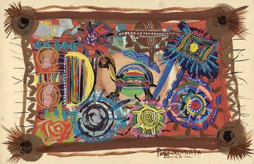 cuadros-etnicos-y-oriente - Cuadro - Turtle Wisdom, 2003 - - Perrin, Oglafa Ebitari