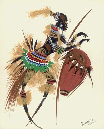 cuadros-etnicos-y-oriente - Cuadro - Her Rhythm and Blues, 2010 - - Perrin, Oglafa Ebitari