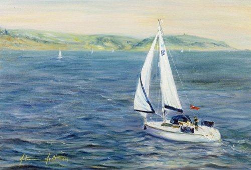cuadros-de-marinas - Cuadro - Sailing Home, 1999 - - Myatt, Antonia