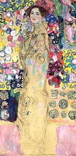 cuadros-de-retrato - Cuadro -Retrato de Maria Munk, (1917-18)- - Klimt, Gustav