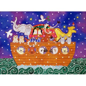 cuadros infantiles - Cuadro - Christmas Ark, 1999 (w.c and pastel on paper) - - Baxter, Cathy