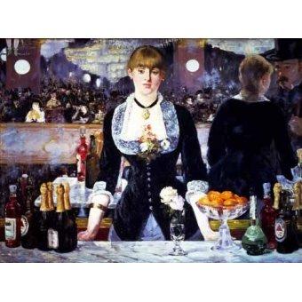 cuadros de bodegones - Cuadro -El bar del Folies Bergeres, 1881- - Manet, Eduard