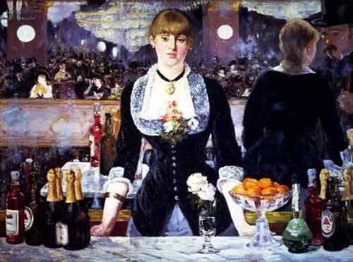 cuadros-de-bodegones - Cuadro -El bar del Folies Bergeres, 1881- - Manet, Eduard