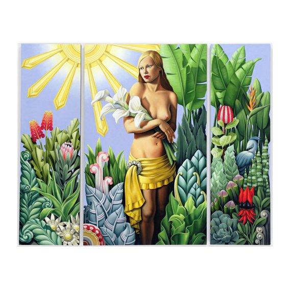 Cuadro -Eden (triptych) (oil on linen)-