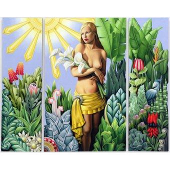 cuadros de retrato - Cuadro -Eden (triptych) (oil on linen)- - Abel, Catherine