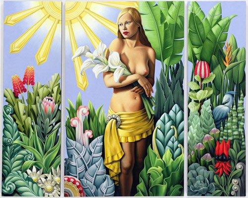 dormitorio - Cuadro -Eden (triptych) (oil on linen)- - Abel, Catherine