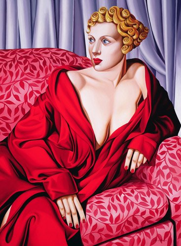 dormitorio - Cuadro -Red Kimono (oil on canvas)- - Abel, Catherine
