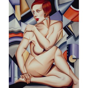 cuadros de desnudos - Cuadro -Cubist Nude (oil on canvas)- - Abel, Catherine