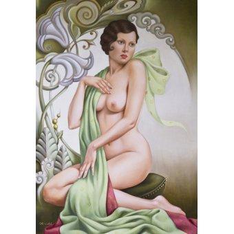cuadros de desnudos - Cuadro -Petite Libellule (oil on linen)- - Abel, Catherine