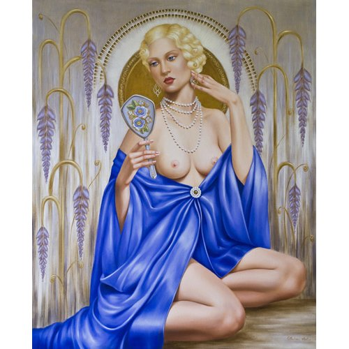 Cuadro -Rhapsody in Blue (oil on canvas)-