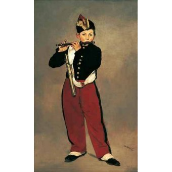 cuadros de retrato - Cuadro -El pífano, 1866- - Manet, Eduard
