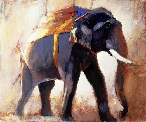 cuadros-para-salon - Cuadro -Shivaji, Khana, 1996 (mixed media on paper)- - Adlington, Mark