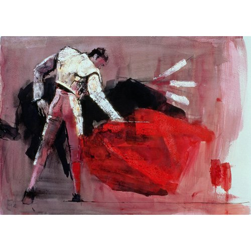 Cuadro -Matador, 1998 (mixed media on paper)-