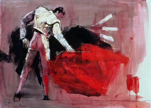 cuadros-para-salon - Cuadro -Matador, 1998 (mixed media on paper)- - Adlington, Mark