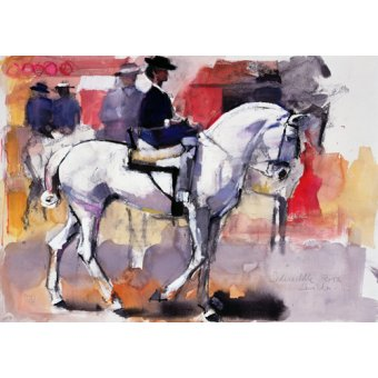 - Cuadro -Side-saddle at the Feria de Sevilla, 1998 (mixed media on paper)- - Adlington, Mark