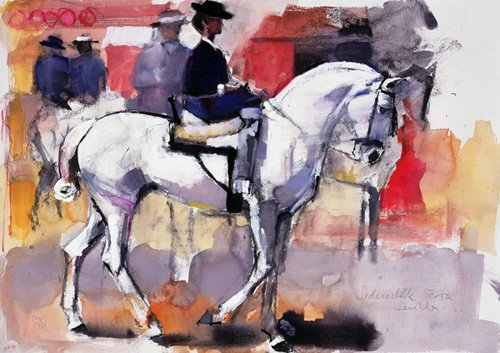 cuadros-para-salon - Cuadro -Side-saddle at the Feria de Sevilla, 1998 (mixed media on paper)- - Adlington, Mark