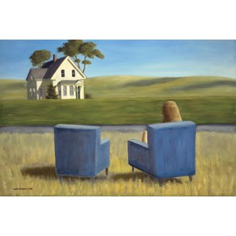 Cuadro - Housesitting (oil on canvas) -