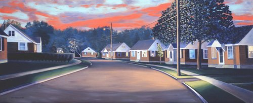 cuadros-de-paisajes - Cuadro -Twilight Glow, 1997 (oil on canvas)- - Arsenault, David