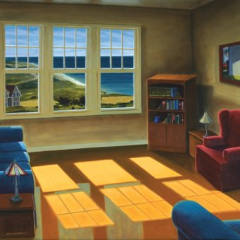 cuadros de paisajes - Cuadro -Apartment By The Sea, 2006 (oil on canvas)- - Arsenault, David